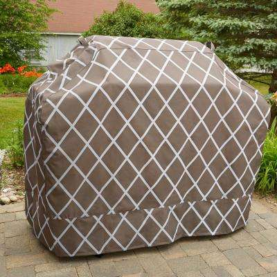Lattice Chocolate Premium Gas Heavy Duty Waterproof BBQ Grill Covers
