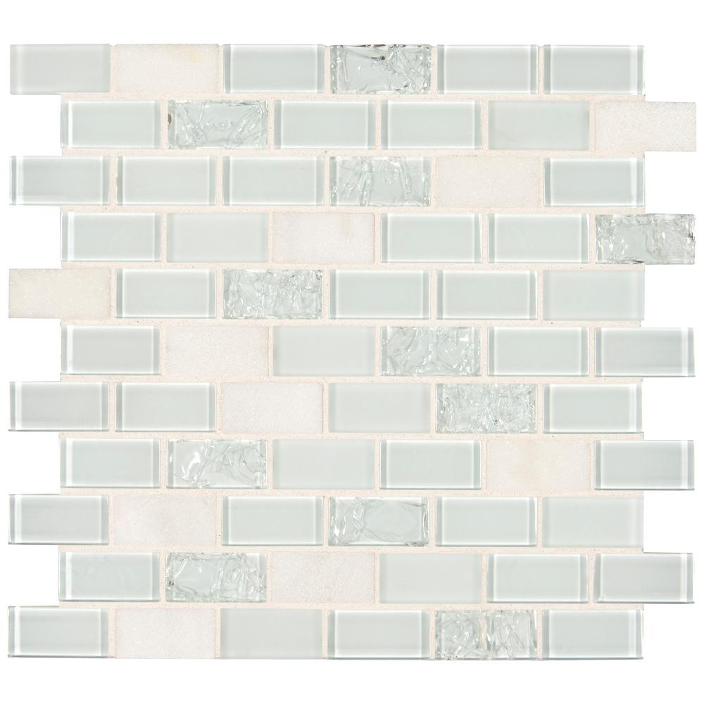 - MSI Snow White Crackle Brick 12.2 In. X 11.61 In. X 6mm Textured