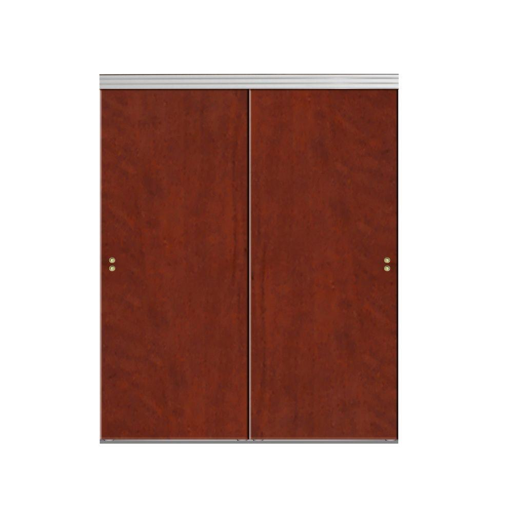 42 in. x 80 in. Smooth Flush Cherry Solid Core MDF