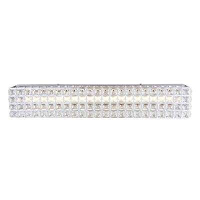 Allure 41.5-Watt Chrome Integrated LED Bath Light