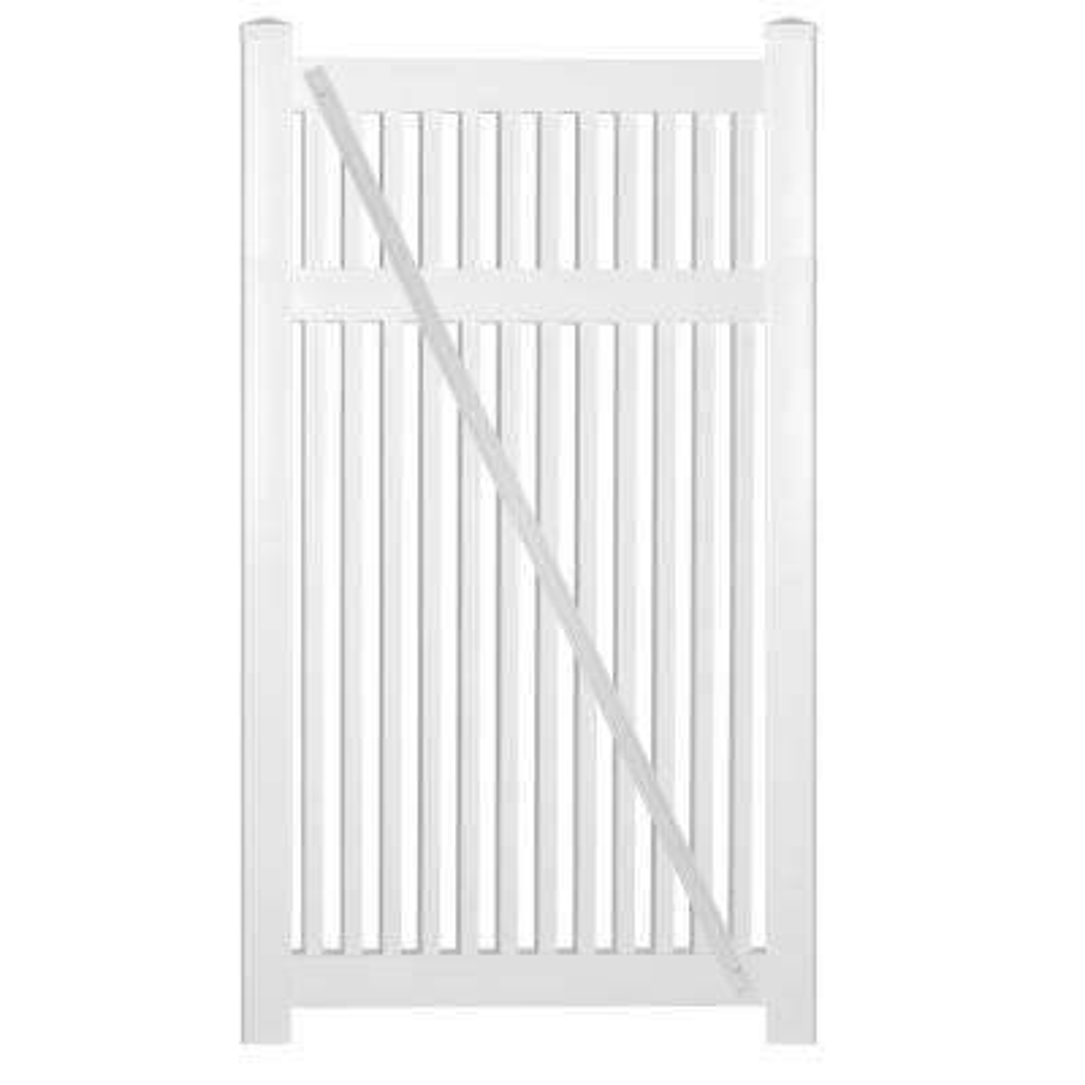 Williamsport 4 ft. W x 5 ft. H White Vinyl Pool Fence Gate