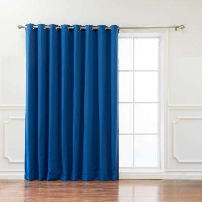 Wide Basic 100 in. W x 96 in. L Blackout Curtain in Royal Blue
