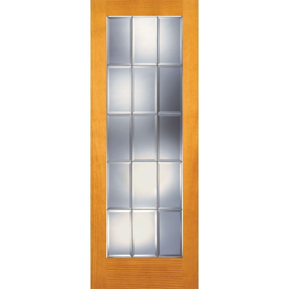 Feather River Doors 36 in. x 80 in. 15 Lite Unfinished Pine Clear Bevel  sc 1 st  Home Depot & Feather River Doors 36 in. x 80 in. 15 Lite Unfinished Pine Clear ...
