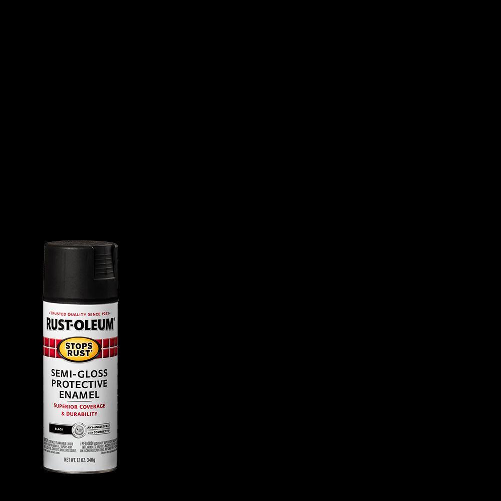 Rust-Oleum Stops Rust 12 oz. Protective Enamel Semi-Gloss Black Spray Paint (6-Pack)