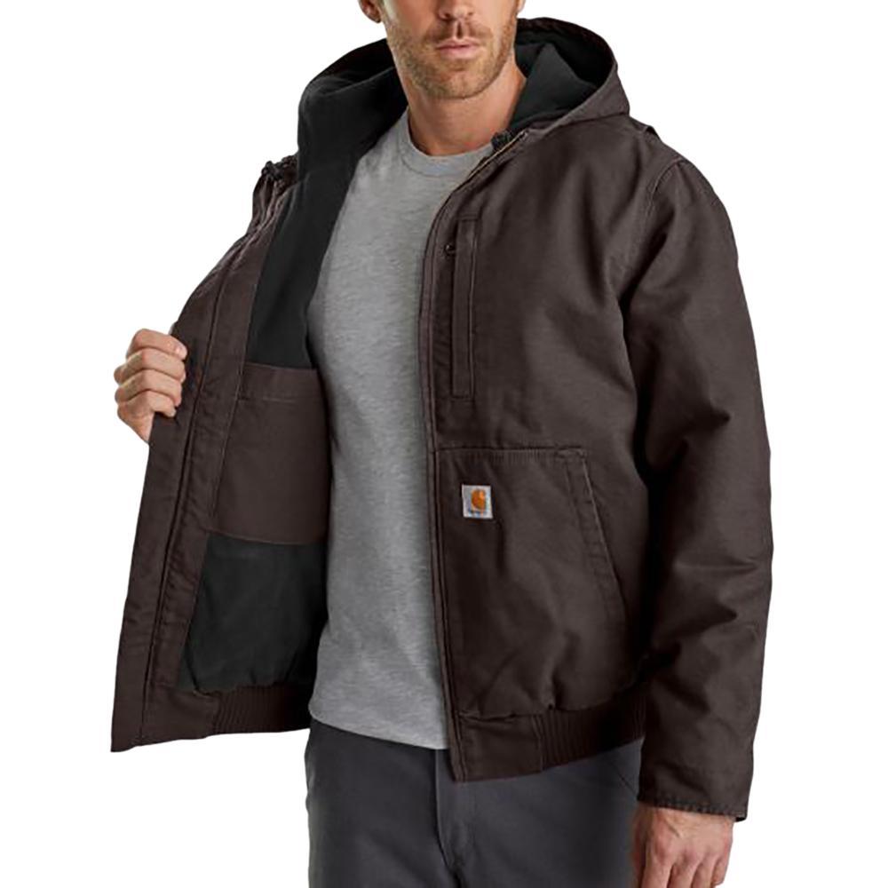Carhartt Men's Regular Large Dark Brown Cotton Full Swing Armstrong Active  Jacket-103371-201 - The Home Depot