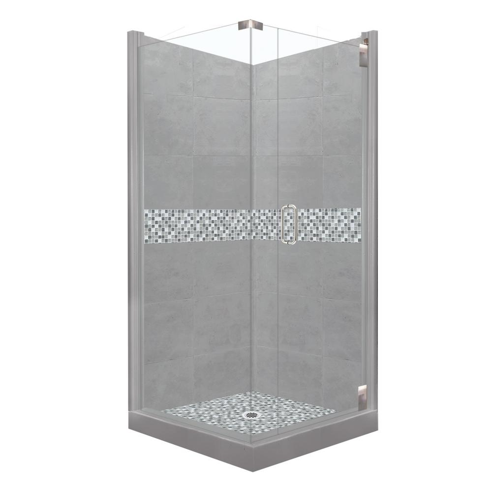 American Bath Factory Del Mar Grand Hinged 38 in. x 38 in. x 80 in ...