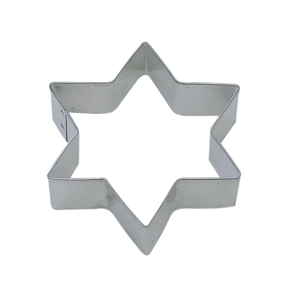 a23c7b73eb2d CybrTrayd 12-Piece 3.5 in. Star Six Point Tinplate Steel Cookie Cutter and  Recipe-RM-1187-12LOT - The Home Depot