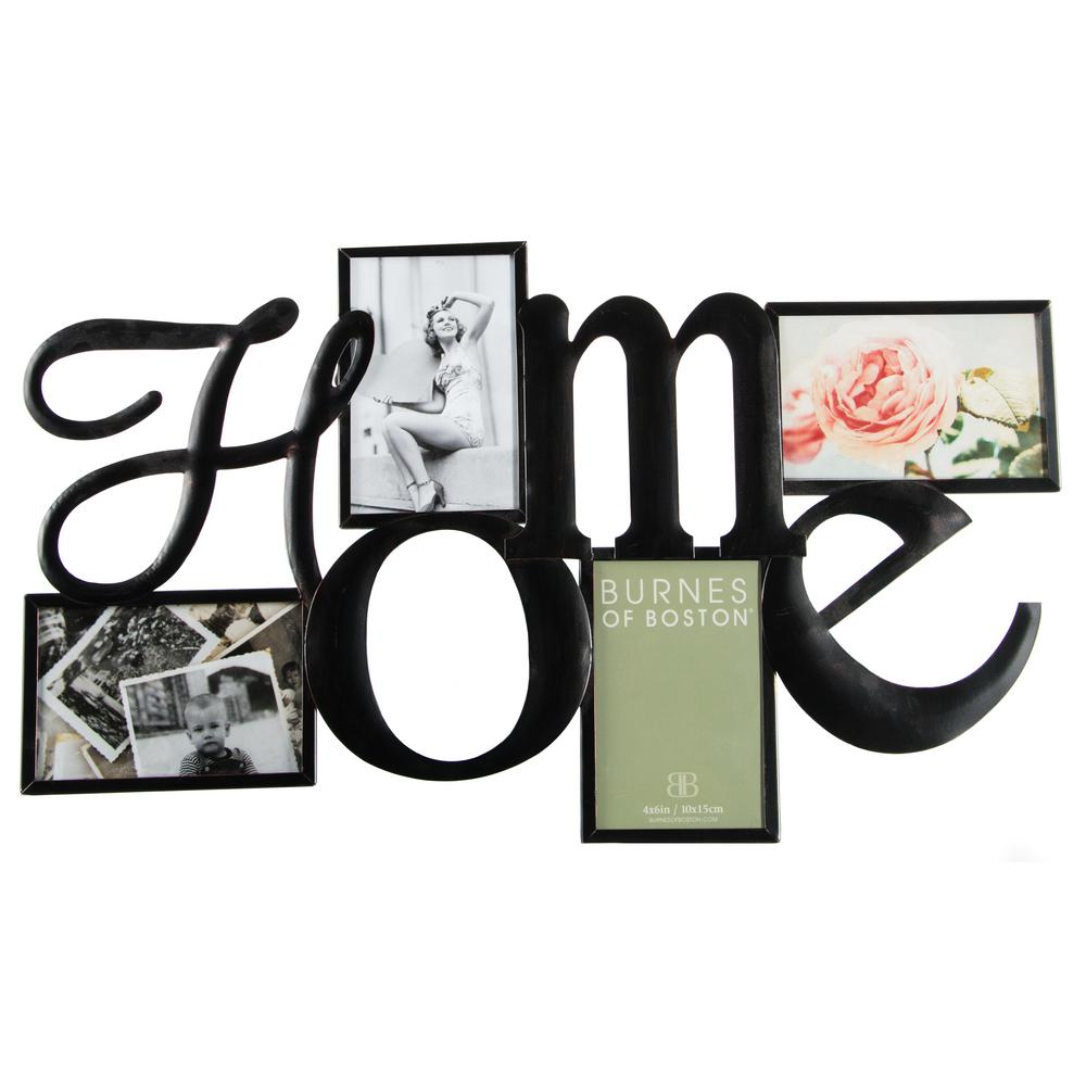 Pinnacle 4 in. x 6 in. Bronze Picture Frame-542440E - The Home Depot