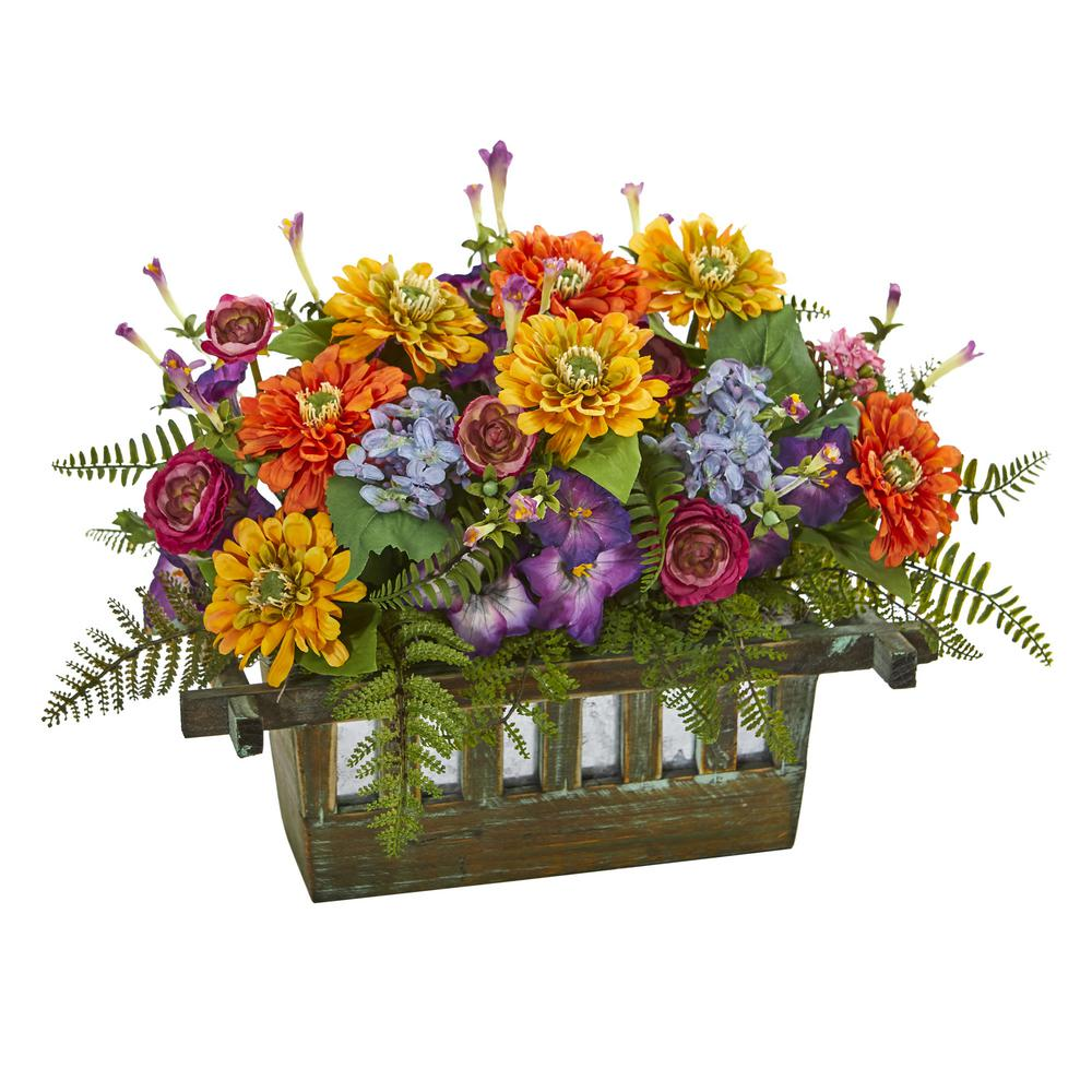 Nearly Natural Indoor Mixed Floral Artificial Arrangement