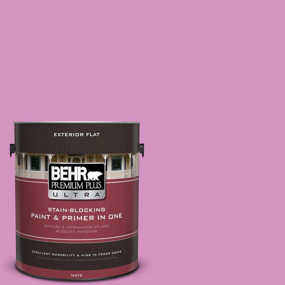 BEHR Premium Plus Ultra 1-gal. #680B-4 Pressed Flower Flat Exterior Paint