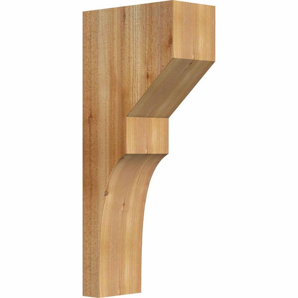 6 in. x 12 in. x 28 in. Western Red Cedar Monterey Rough Sawn Corbel