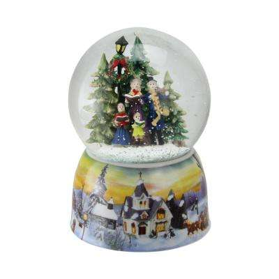 6 in. Christmas Carolers Winter Scene Musical Water Snow Globe