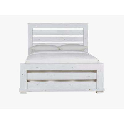 Willow Distressed White King Complete Slat Bed