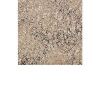 2 in. x 4 in. Quartz Countertop Sample in Kimbler Mist
