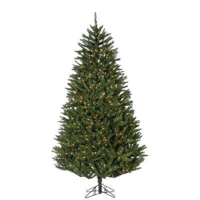 7.5 ft. New England Pine Artificial Christmas Tree with 800 Clear Lights