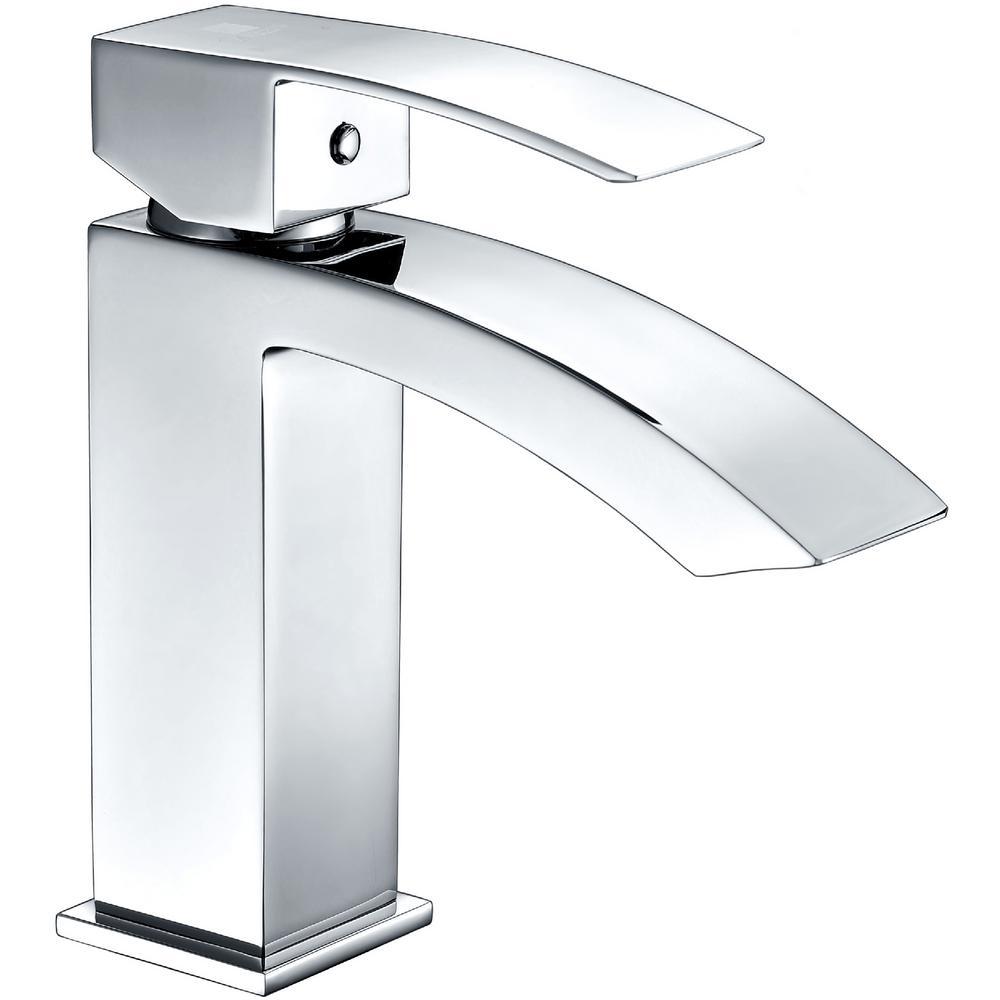 Revere Series Single Hole Single-Handle Low-Arc Bathroom Faucet in Polished Chrome