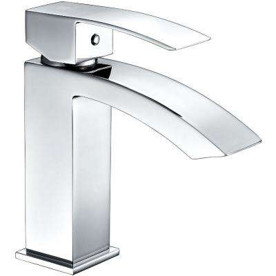 Revere Series Single Hole Single-Handle Low-Arc Bathroom Faucet in Polished Chrome