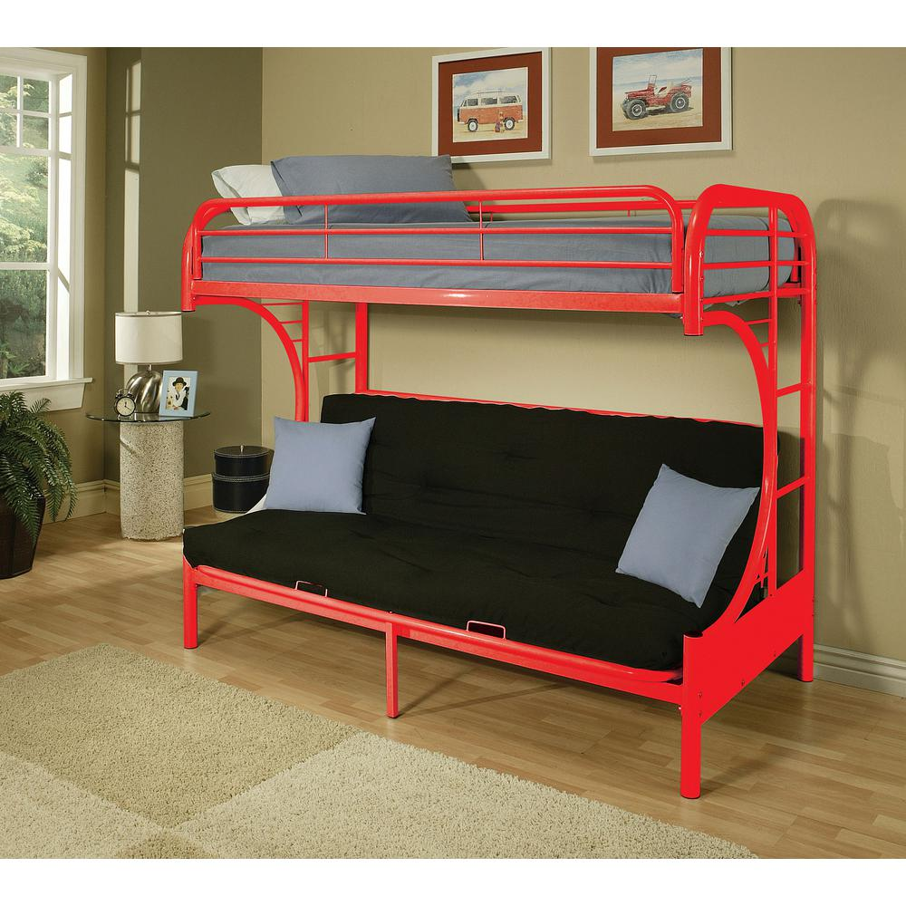 Acme Furniture Eclipse Twin Over Full Metal Kids Bunk Bed