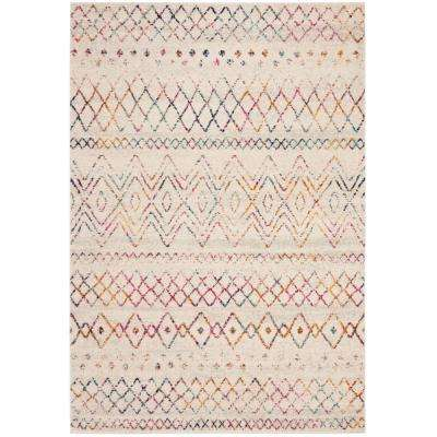 Madison Ivory/Fuchsia 5 ft. 1 in. x 7 ft. 6 in. Area Rug