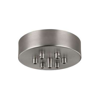 7-Light Multi-Port Satin Nickel Canopy