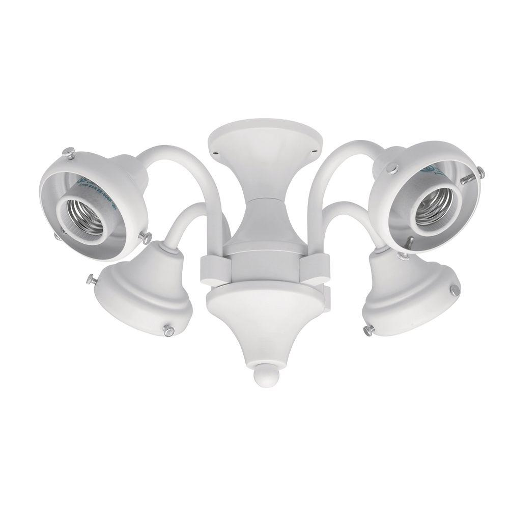 null 4-Light White Fitter-DISCONTINUED