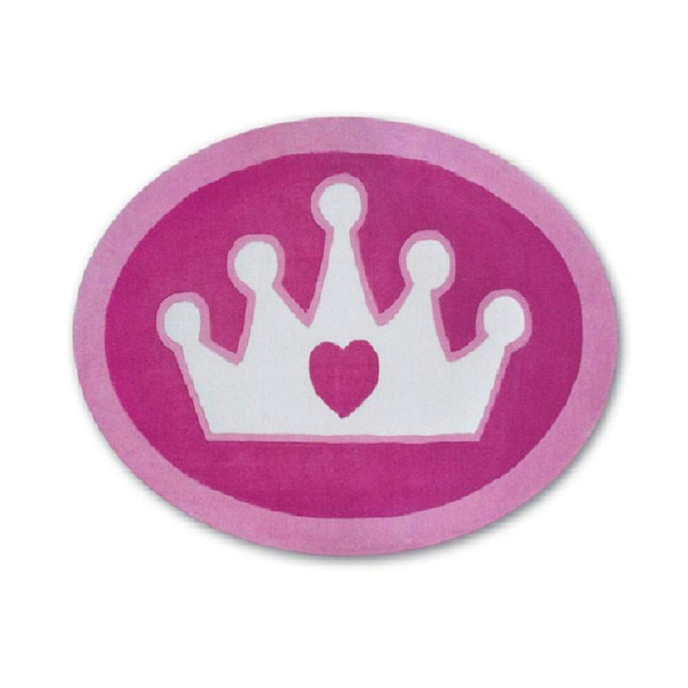 Disney Princess Shaped Crown 4 ft. Round Area Rug-DISCONTINUED