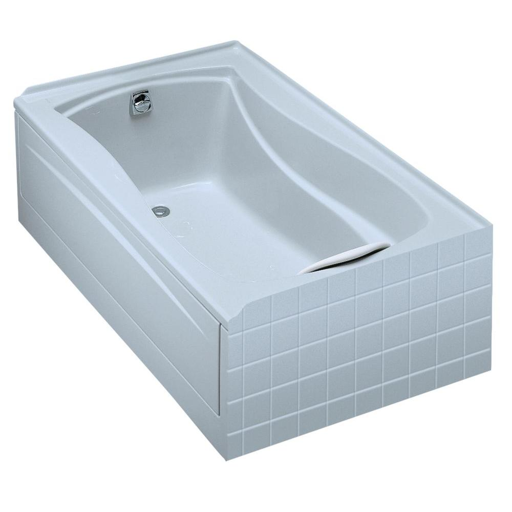 KOHLER Mariposa 5 ft. Acrylic Left-Hand Drain Rectangular Alcove Soaking Tub in White