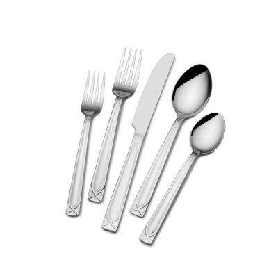 Mabel 30-Piece18/0 Stainless Steel Flatware Set (Service for 6)