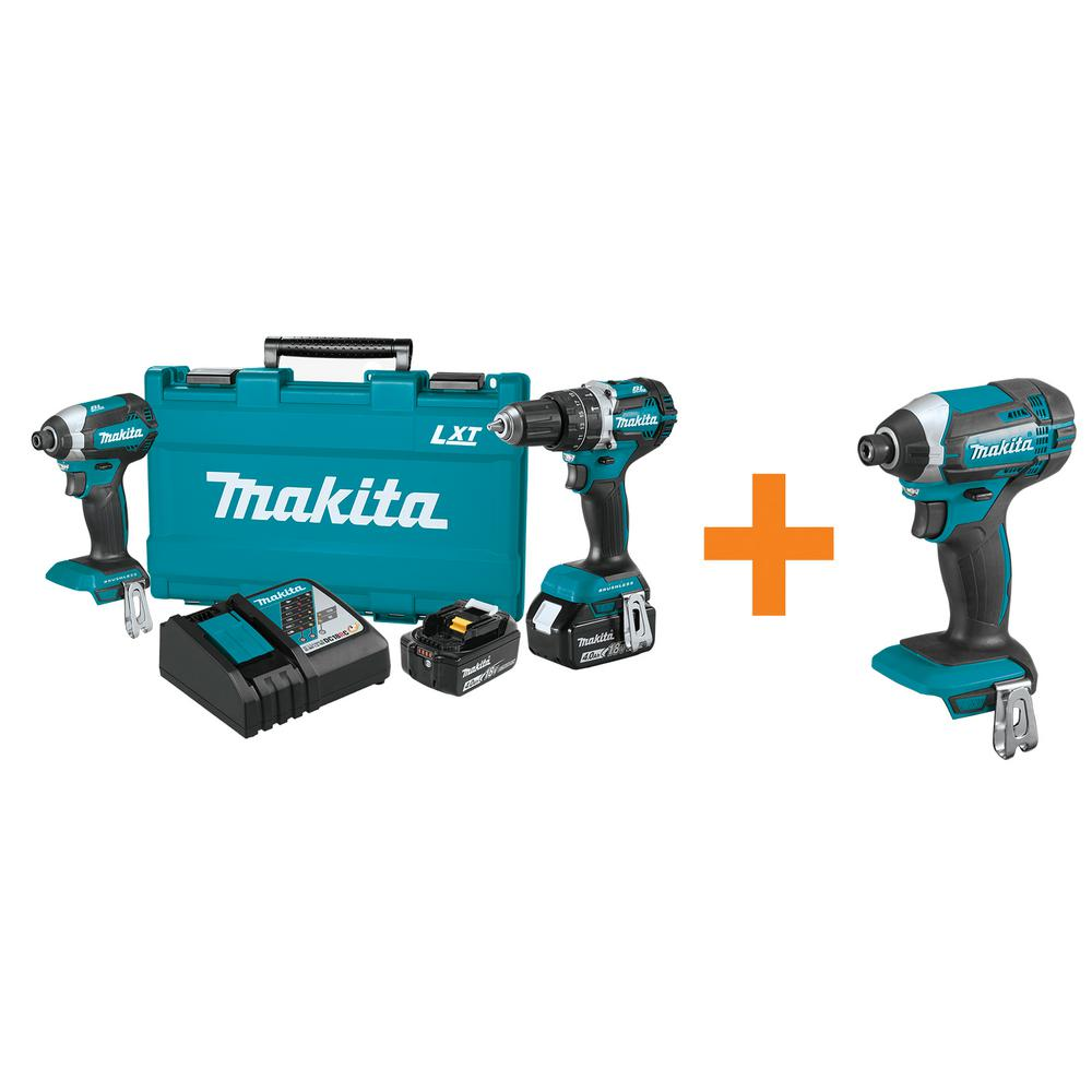 18-Volt LXT Lithium-Ion Brushless Cordless Hammer Drill/Impact Driver Combo Kit
