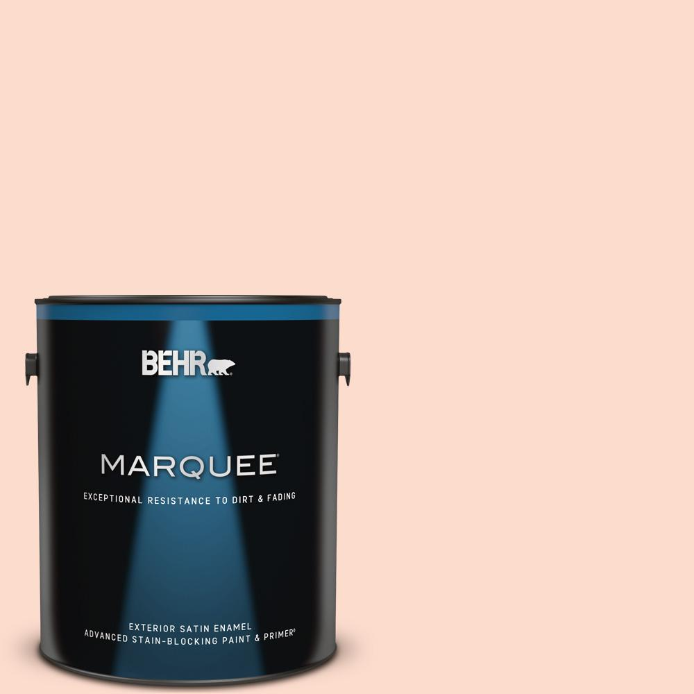 Behr Marquee 1 Gal 220c 2 Peachtree Satin Enamel Exterior Paint Primer 945001 The Home Depot