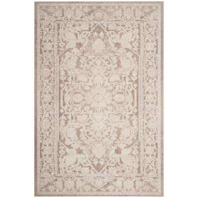 Reflection Beige/Cream 5 ft. 1 in. x 7 ft. 6 in. Area Rug