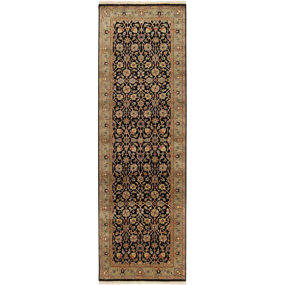 Artistic Weavers Tilden Black Semi-Worsted 3 ft. x 12 ft. Rug Runner