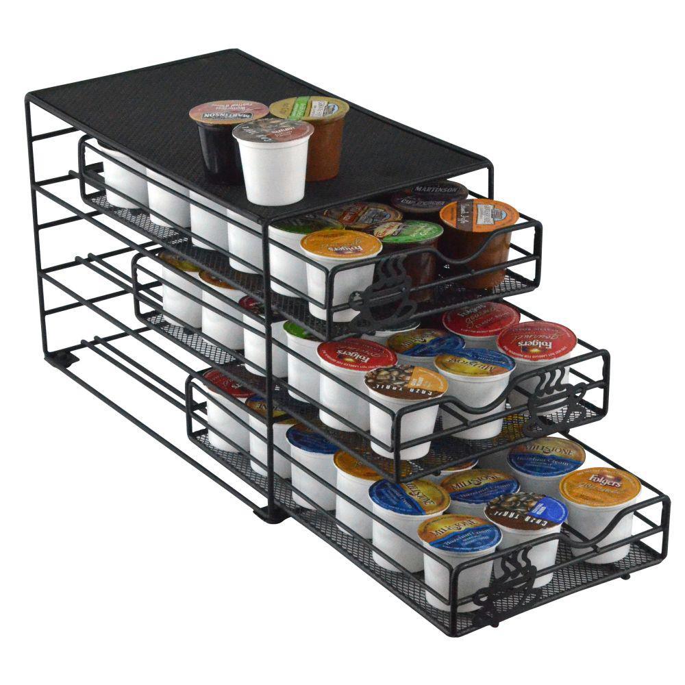 Southern Homewares Keurig 54 Capacity K Cup Storage Drawer Coffee Holder  Black