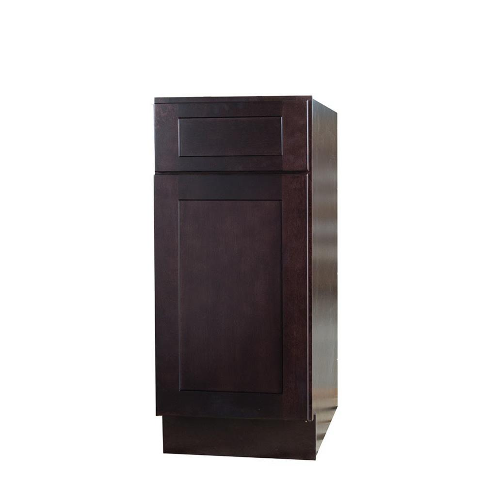 Bremen Ready to Assemble 15x34.5x24 in. Shaker Base Cabinet with 1-Door