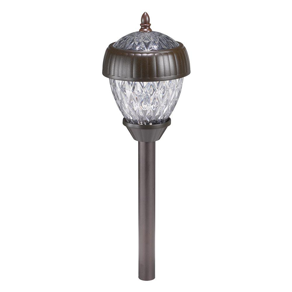 Hampton Bay Acorn 2-Light Solar Pathway Light Set (6-Pack ...