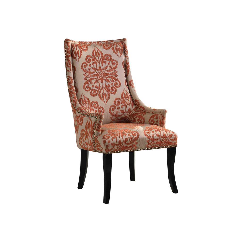 Eliza Orange Fabric Living Room Accent Chair