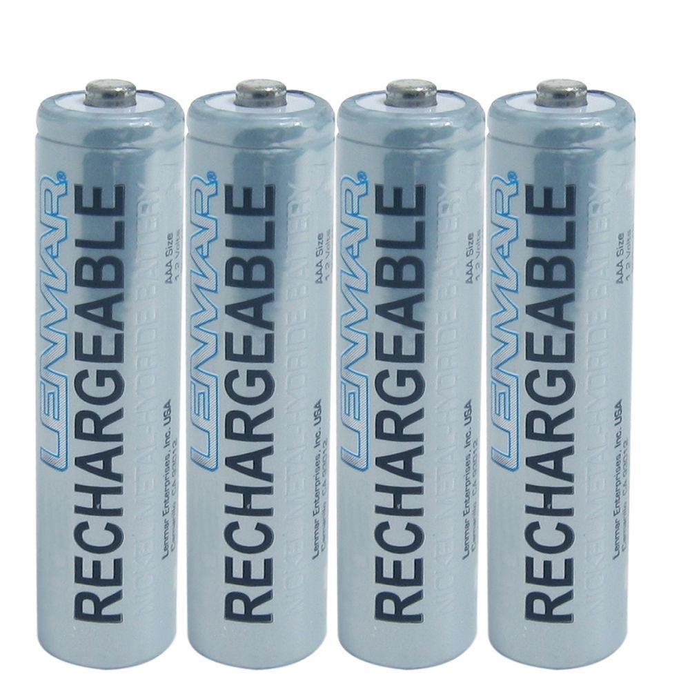 Nickel-Metal Hydride AAA 1000mAh Batteries (4-Pack)