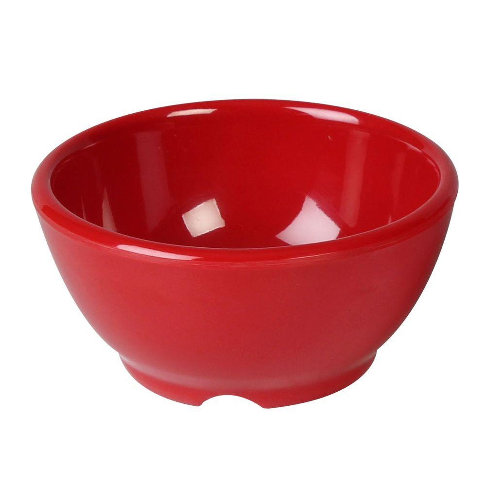 Coleur 10 oz., 4-5/8 in. Soup Bowl in Pure Red (12-Piece)