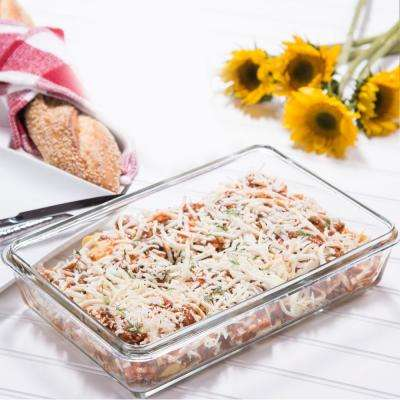 67.6 oz. Rectangle 1-Piece Fresh Glass Food Storage Container