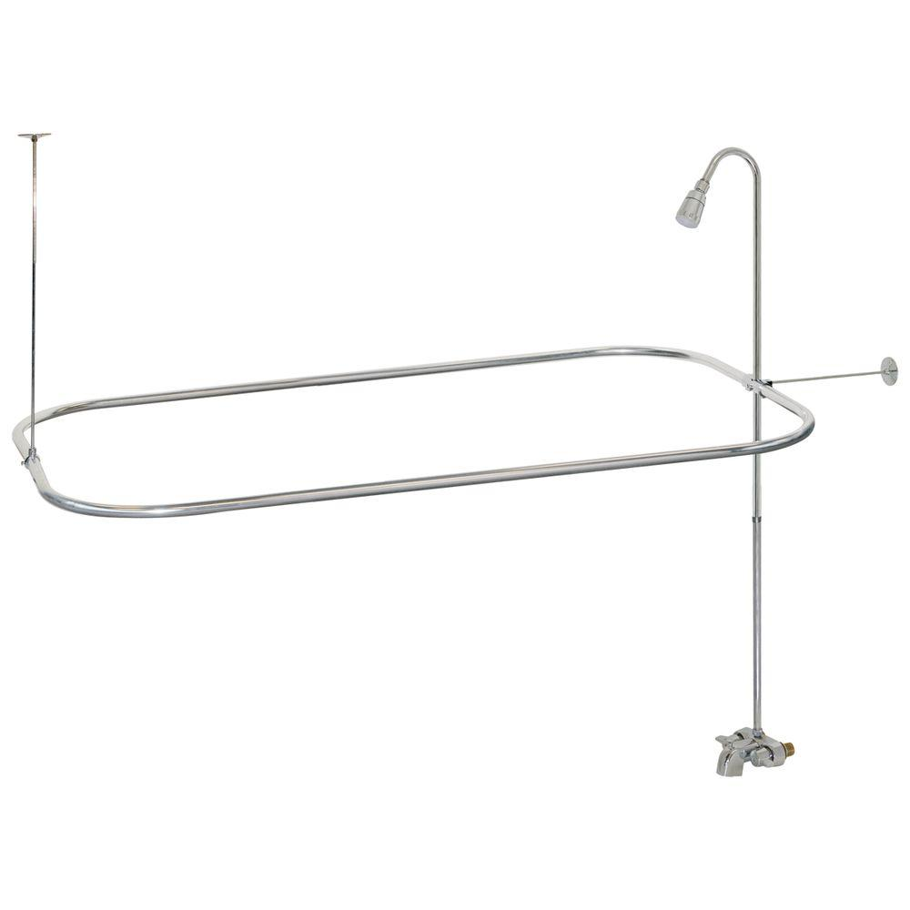 Add Shower To Clawfoot Tub. 2 Handle Bathcock Type Portable Aluminum Add EZ FLO 3 4 in  On