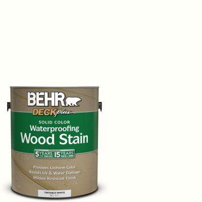 1 gal. #SC-210 Ultra Pure White Solid Color Waterproofing Exterior Wood Stain