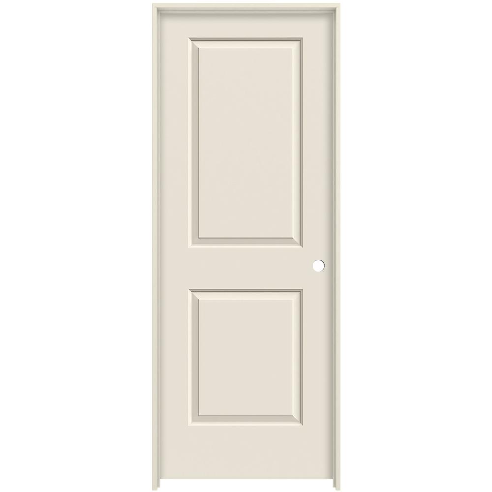 Cambridge Primed Left Hand Smooth Molded Composite Mdf Single Prehung Interior Door W Split Jamb