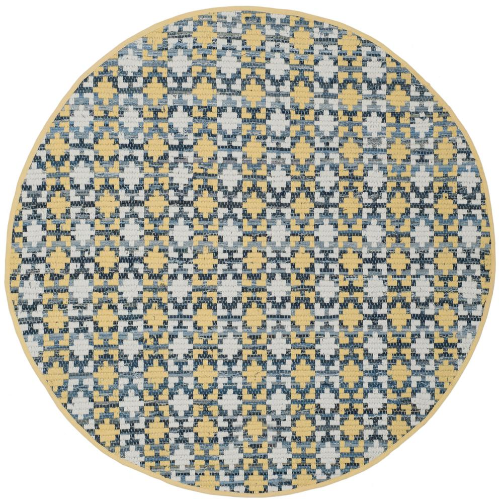 Montauk Gold/Multi 4 ft. x 4 ft. Round Area Rug