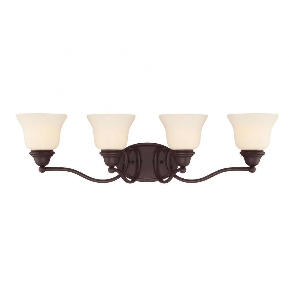 Thayne 4-Light English Bronze Bath Vanity Light