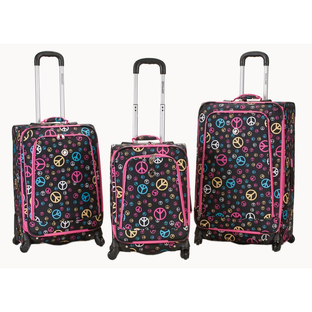 Rockalnd Expandable Fusion 3-Piece Softside Luggage Set, Peace