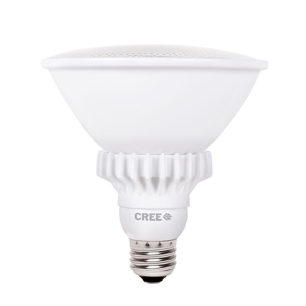 Cree 90W Equivalent Bright White (3000K) PAR38 47 Degrees Flood Dimmable LED Light Bulb