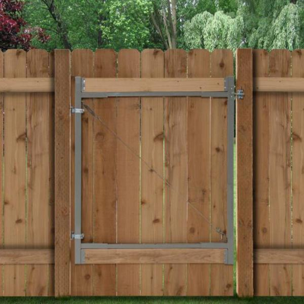Consumer 36 in. to 72 in. W Steel Gate Opening Gate Frame Kit