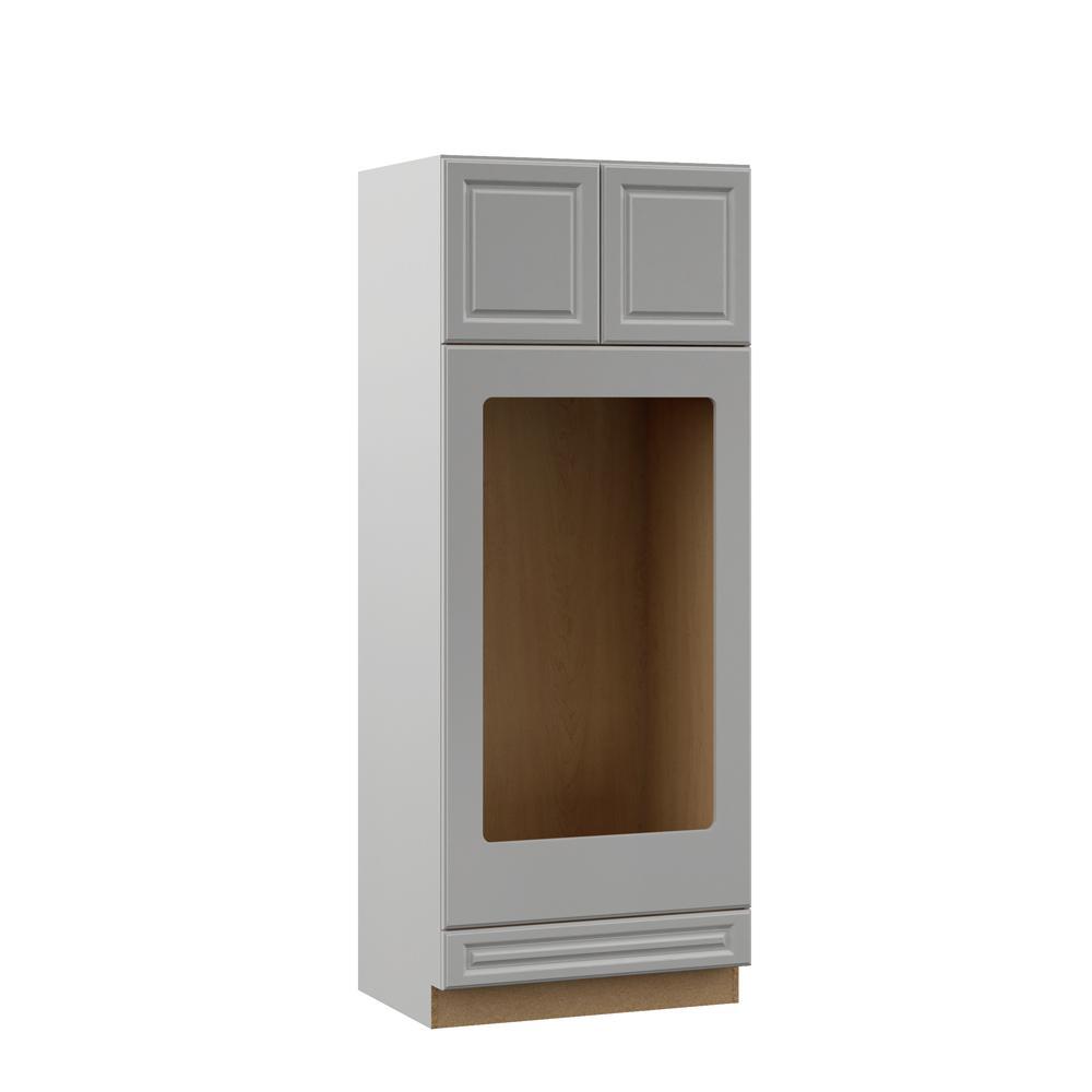 Gray Kitchen Cabinets Home Depot: Hampton Bay Designer Series Elgin Assembled 33x84x23.75 In