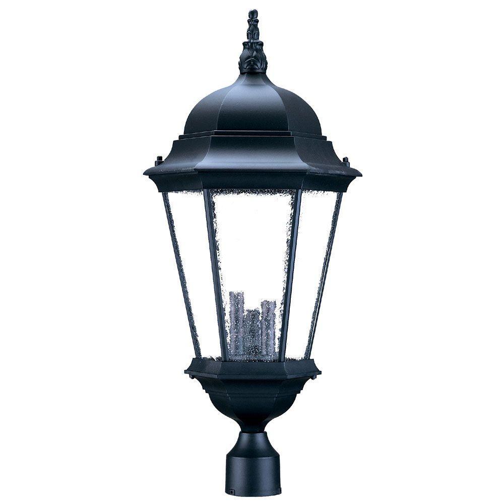 Acclaim Lighting Somerset 1 Light Matte Black Outdoor Post: Acclaim Lighting Richmond 3-Light Matte Black Outdoor Post
