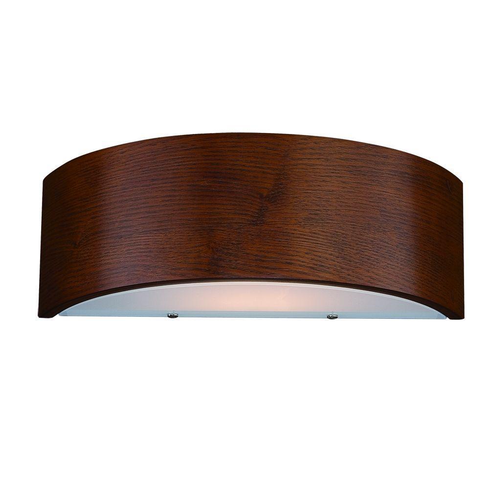 Eurofase Dervish Collection 1-Light Mahogany Wall Sconce